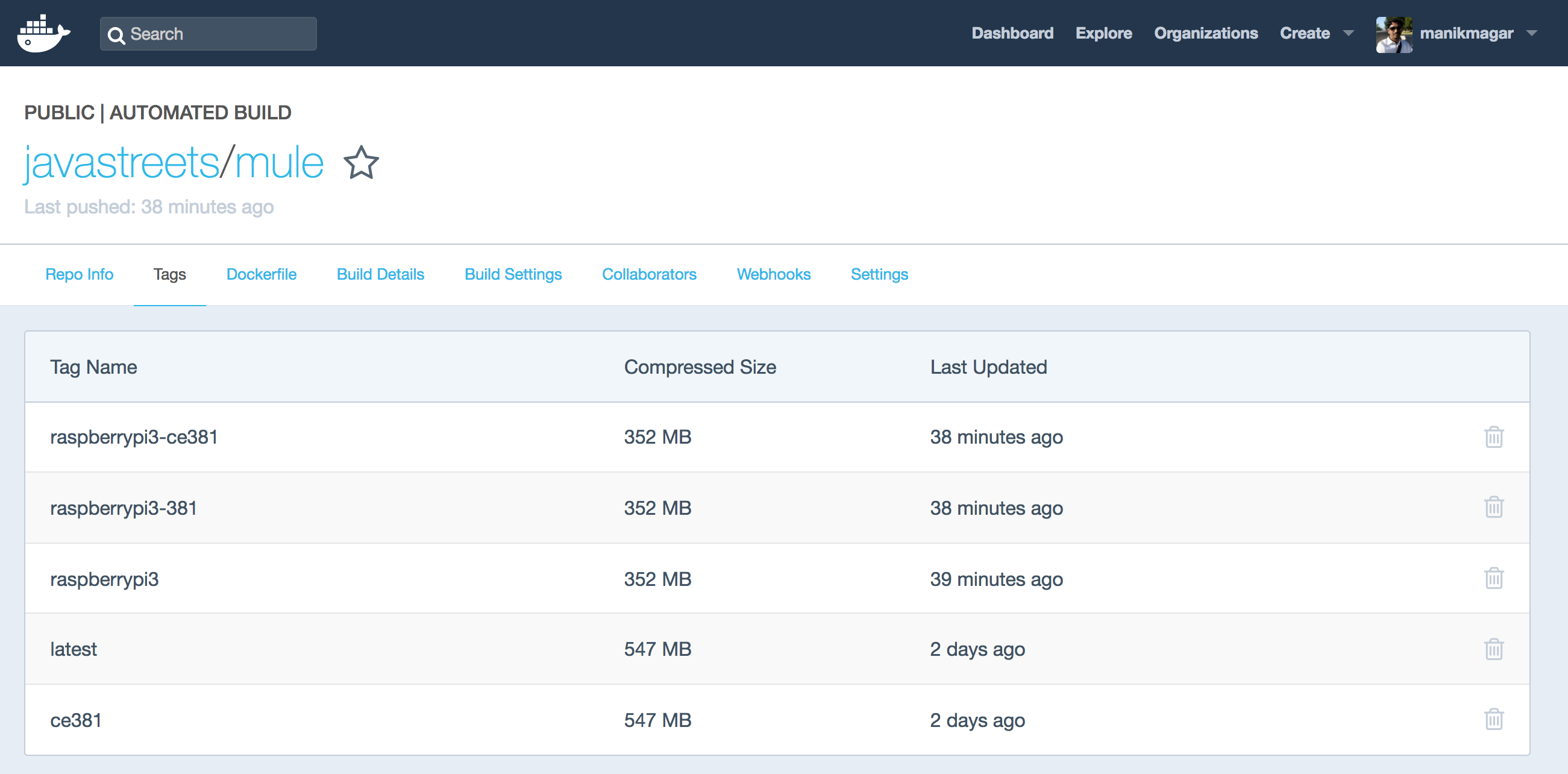 Mule ESB Imaegs in Docker Hub