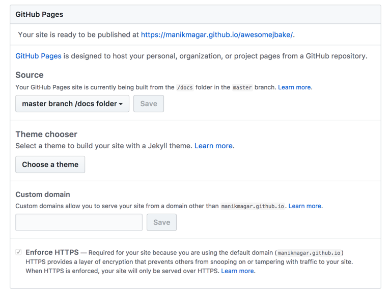 jbake with continuous deployment to github setup pages